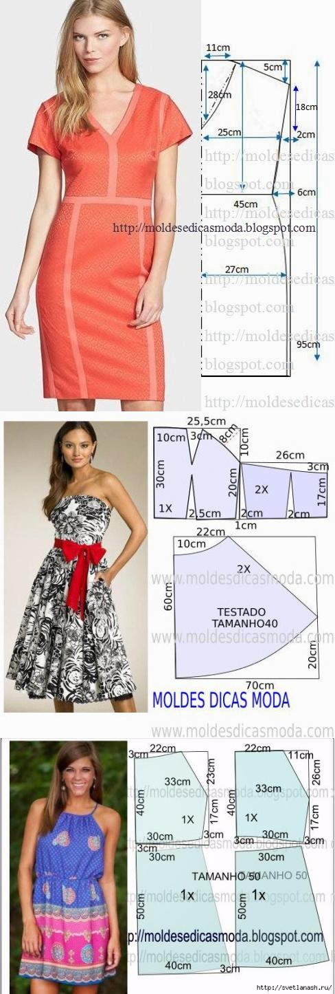 Los patrones simples de los vestidos veraniegos 7 // Софья Малова ...