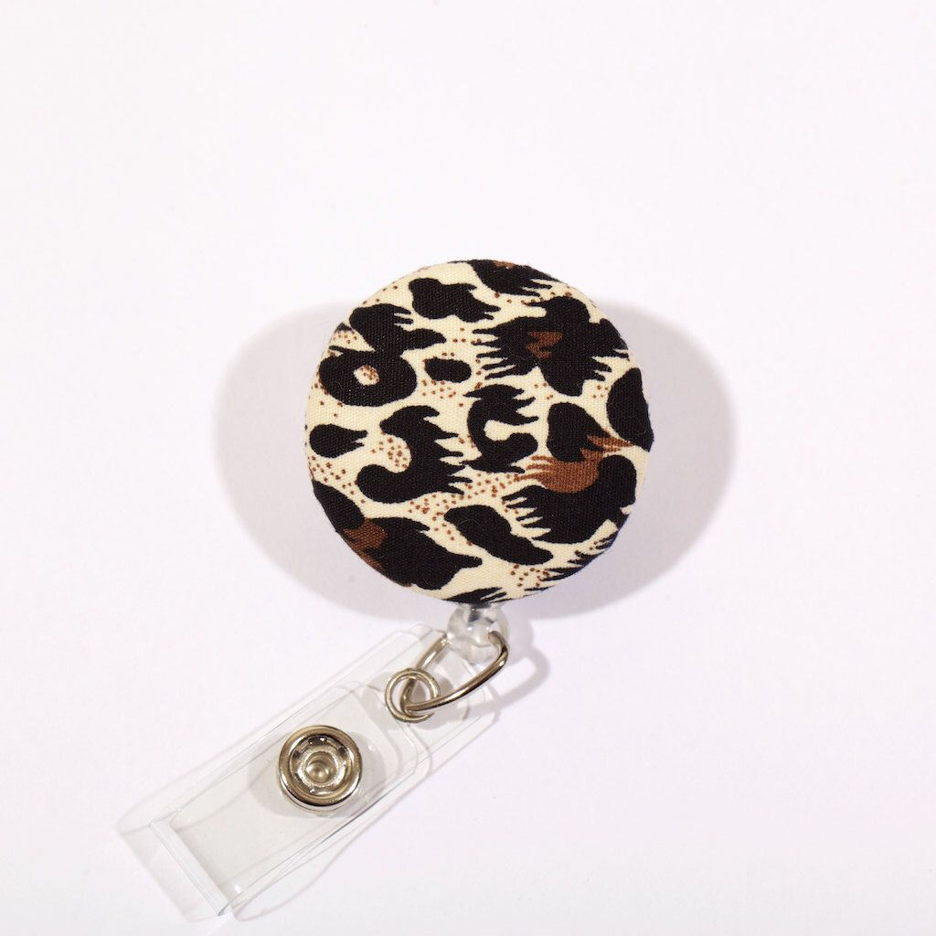 A personal favorite from my Etsy shop https://www.etsy.com/listing/242461051/leopard-print-badge-reel