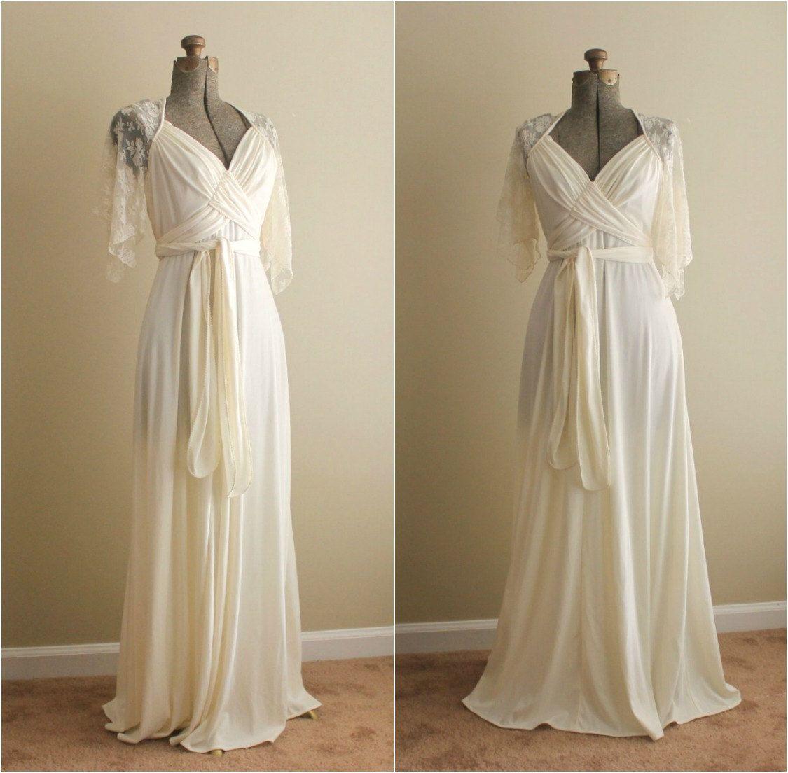 Reserved Vintage 1960s Dress / 60s Wedding Dress / Autumn