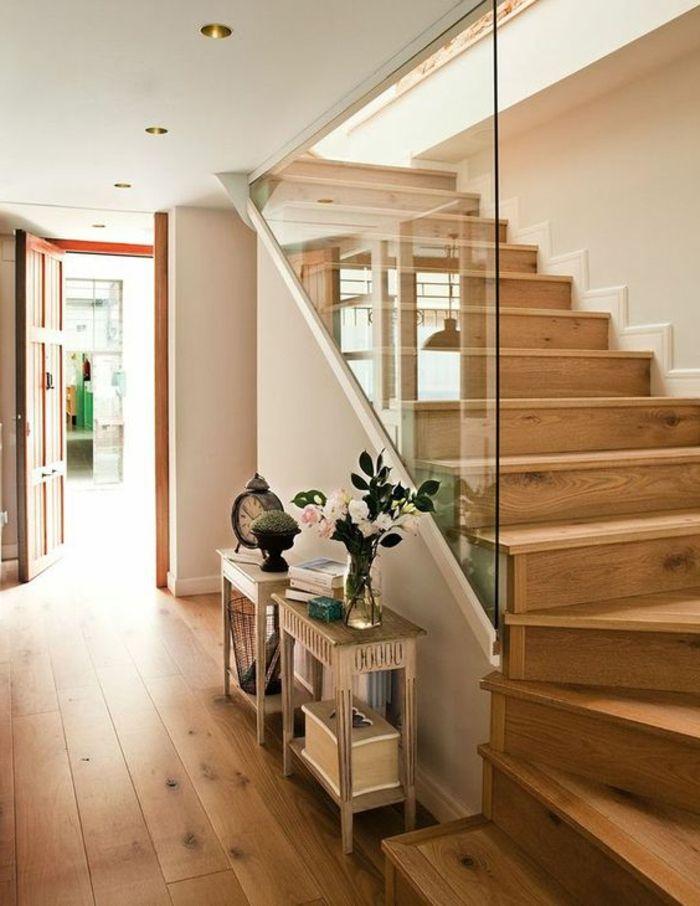 Treppen Ideen Holz Treppe Und Glaswand Deko Treppenaufgang In 2020 Treppenaufgang Gestalten Treppenaufgang Holztreppe