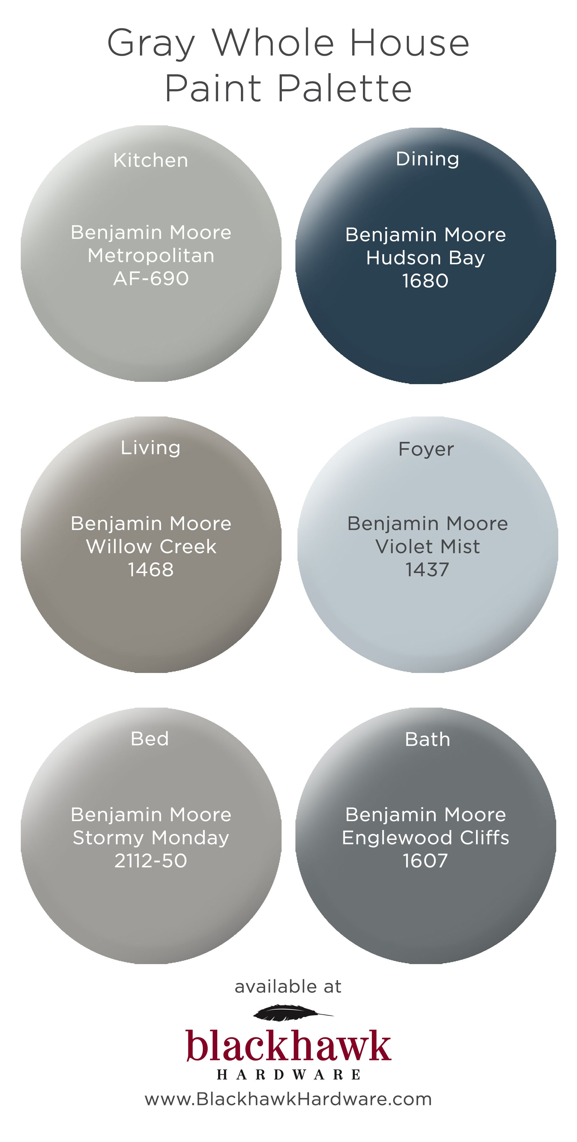Whole House Paint Palettes By Benjamin Moore Blue Bedroom