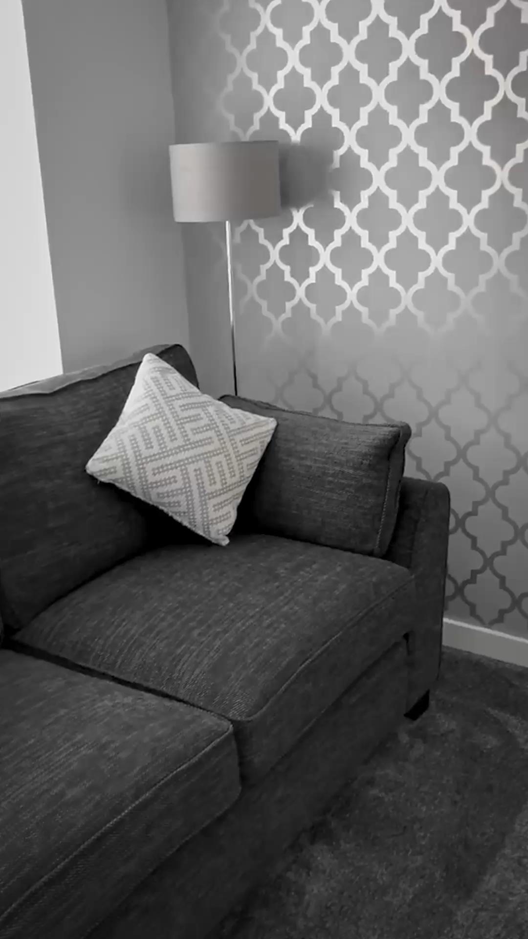 Henderson Interiors Camden Trellis Wallpaper Soft Grey Si