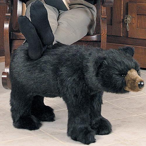 Bear Decor Bear Footrest At Rocky Mountain Cabin Decor
