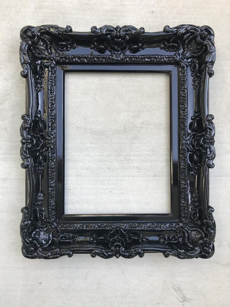 12x16 Black Frame Wall Mirror Frame For Canvas Or Art Paint Large Picture Frame Baroque Frames French Frames Wedding Gift Shabby Chic In 2020 Painting Mirror Frames Framed Mirror Wall Baroque Frames
