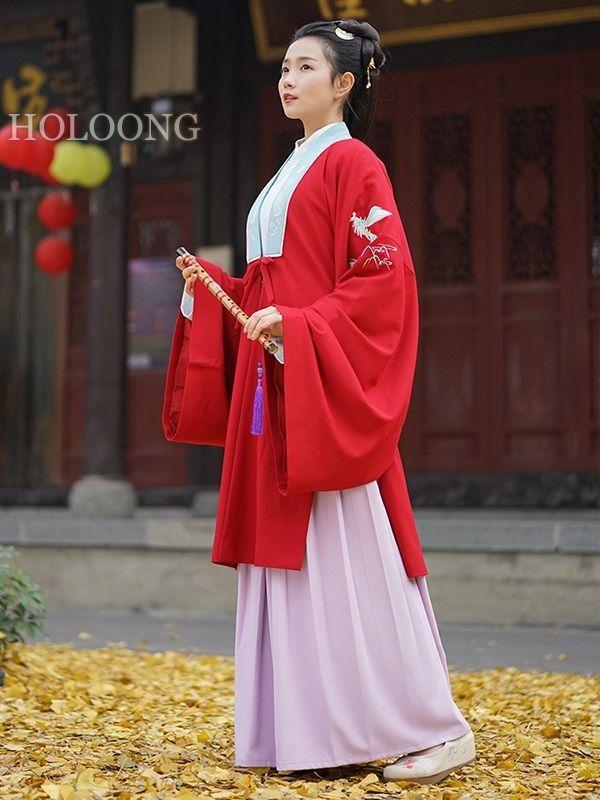 Embroider Hanfu clothing LightBlue Women BeiZi Clothing