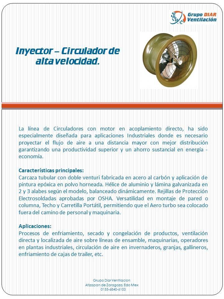 Inyectores-Circuladores de alta velocidad con acoplamiento directo,