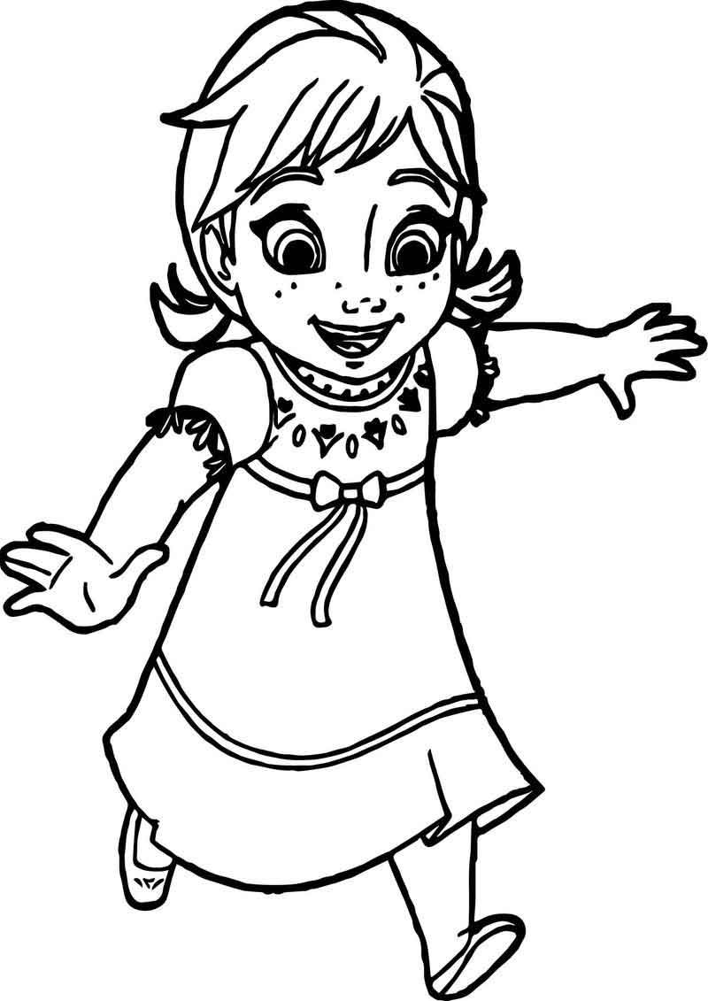 Young Anna Coloring Page Elsa Coloring Pages Elsa Coloring Family Coloring Pages