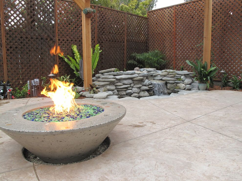 Gas Outdoor Fire Pit Patio Craftsman With Backyard Retreat Cast Concrete Fire  Pit Concrete Fire Pit