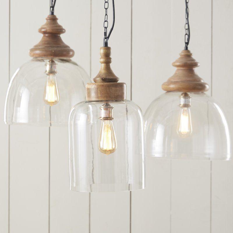 Olivo 1 Light Single Bell Pendant Glass Pendant Light