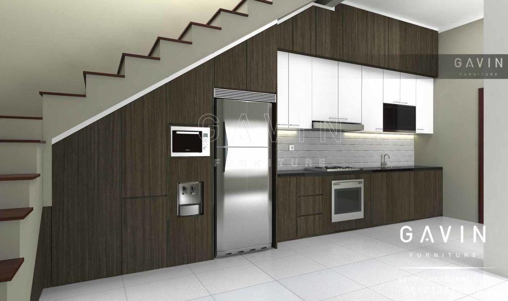 Dengan Konsep Kitchen Set Minimalis Modern Pada Bagian Engsel Menggunakan Knocker Slowmotion Dan Rel Laci Tendem Slow Motio Desain Rumah Mungil Minimalis Rumah
