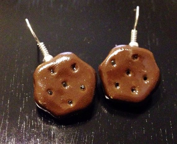 Thin Mints Girl Scout Cookie Earrings made with by sweetiesbyrobyn
