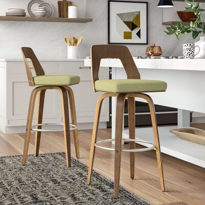 Langley Street Emory Bar Counter Stool Colour Green Seat