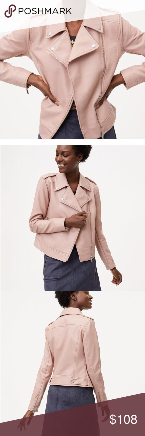 Loft Blush Faux Leather Jacket Brand New Leather Jacket Brands Fashion Chic Boutique