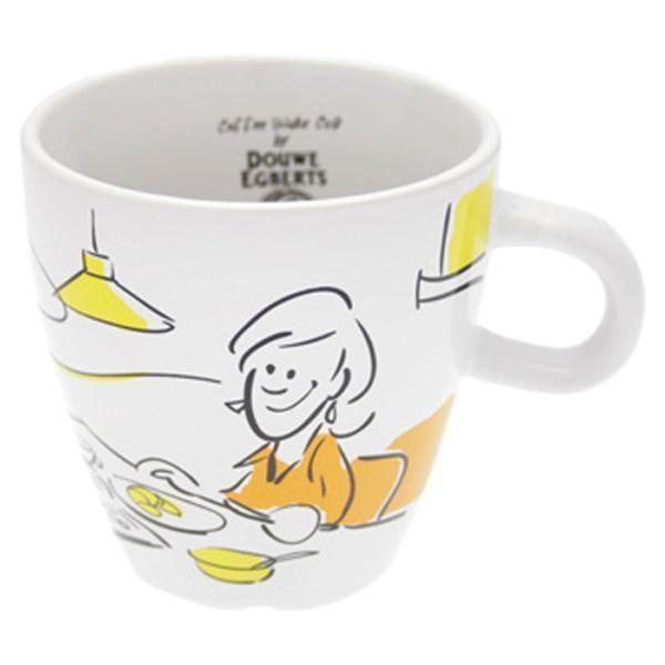 Douwe Egberts Design Coffee Cup 260 Ml Orange Yellow
