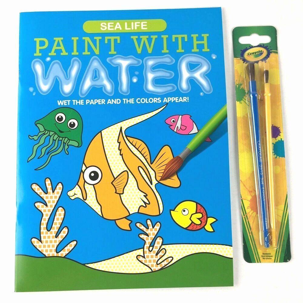 Water Coloring Activities Elegant Sealife Paint With Water Coloring Book Colorful Fish With Sealife Painting In 2020 Colorful Fish Coloring Books Color Activities