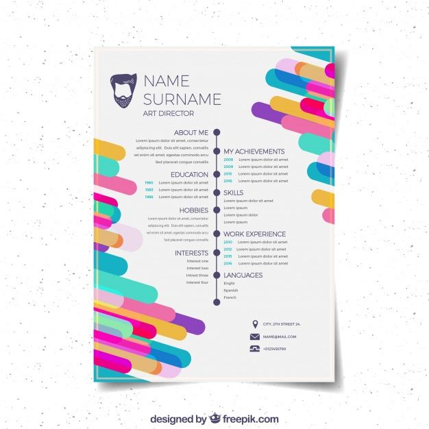 flat curriculum vitae template free vector student guide cover