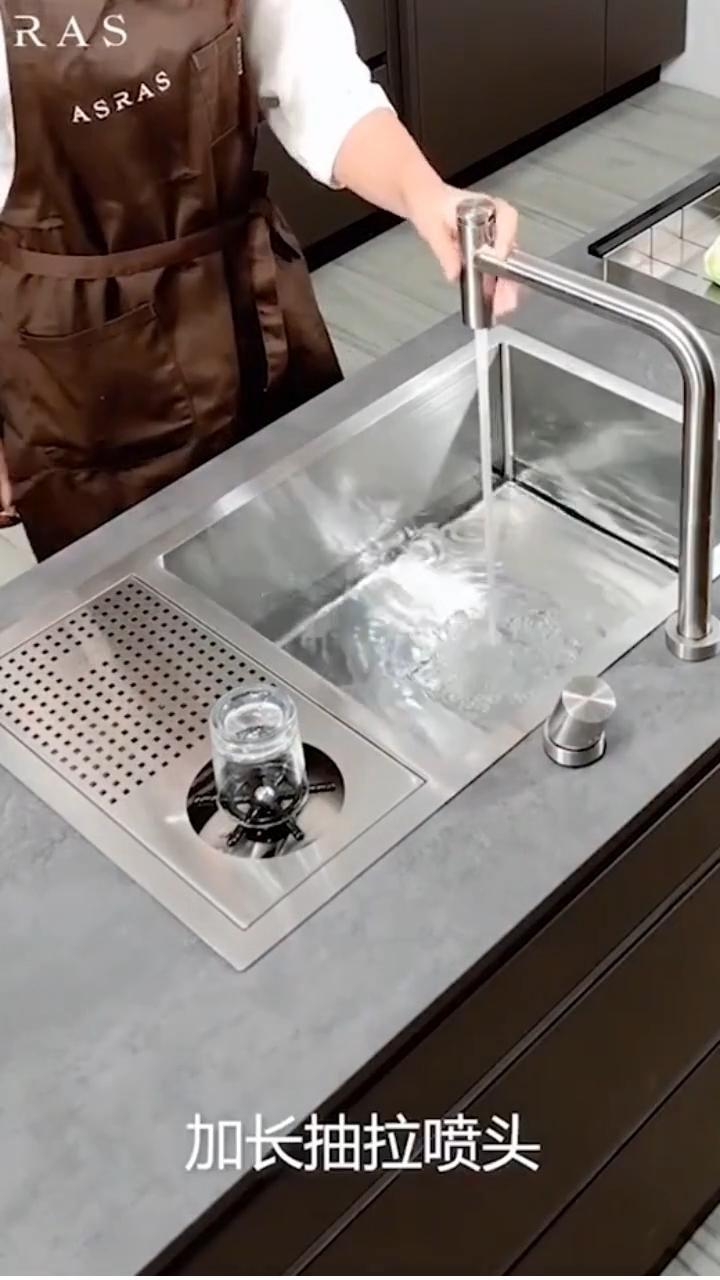 Handmade kitchen sink cup rinser water sprinkler k