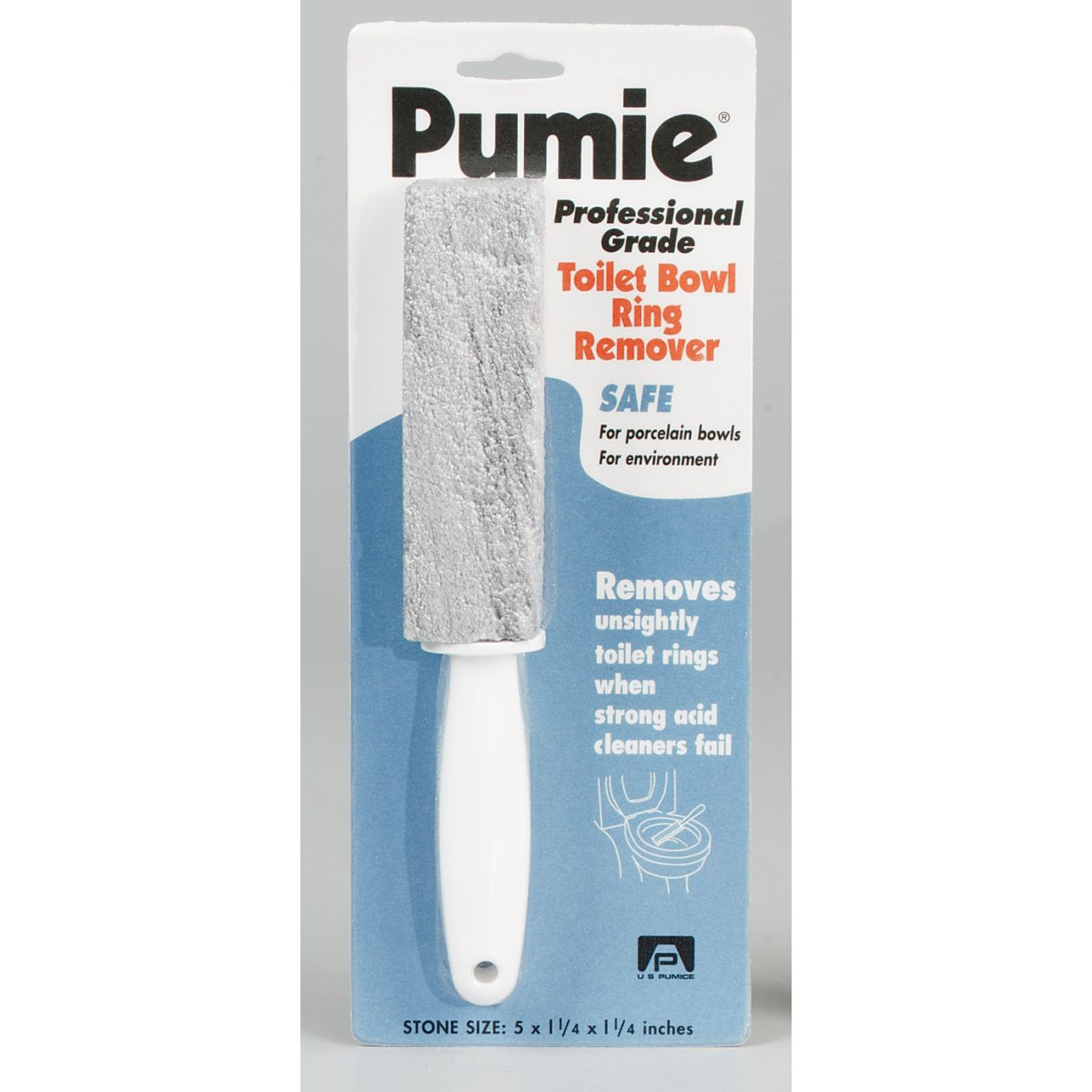 US Pumice Pumie Toilet Bowl Ring Remover (TBR-6) - Scouring