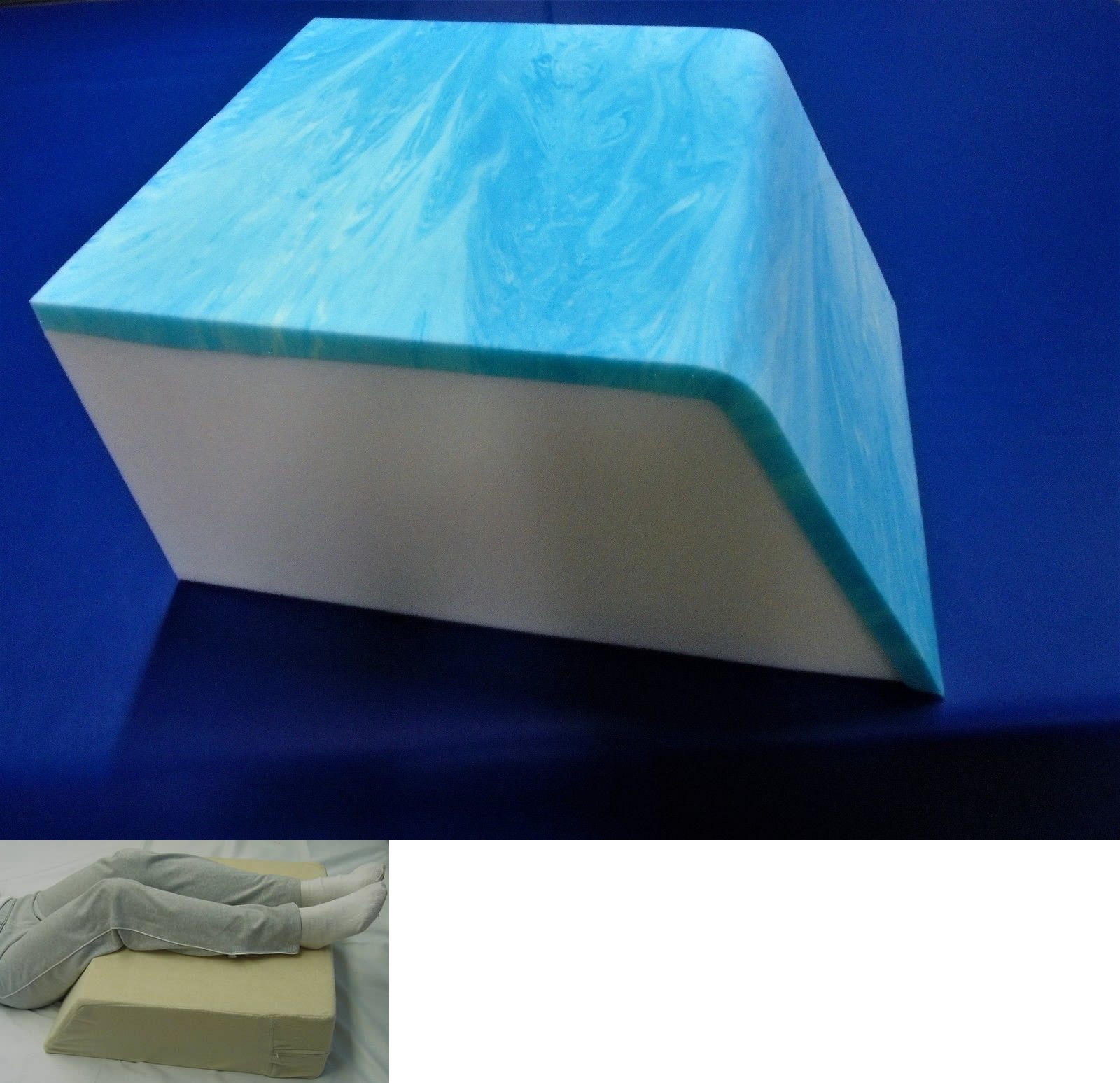 Wedges and bed positioners gel memory foam leg support foam wedge