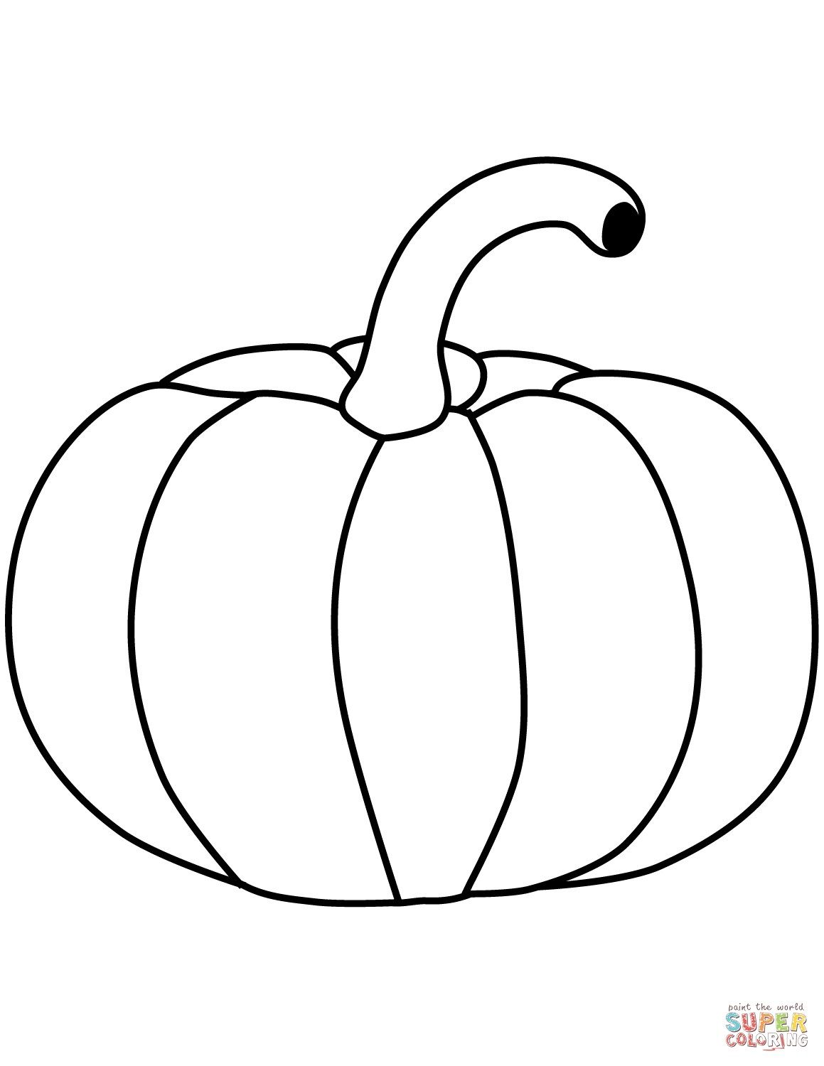 Blank Pumpkin Coloring Pages Pictures