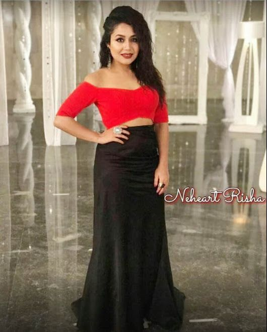 Sign In Neha Kakkar Dresses Bollywood Girls Red Skirts