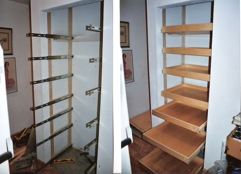 Diy Roll Out Shelving. Great For Pantry, Linen Closet, Playrooms,  Schoolrooms