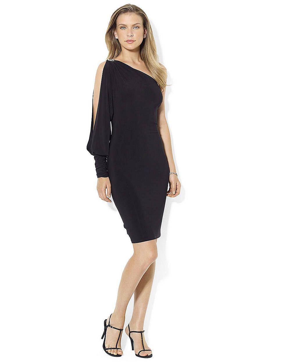 9fd7438d142 One-Shoulder Matte Jersey Evening Dress