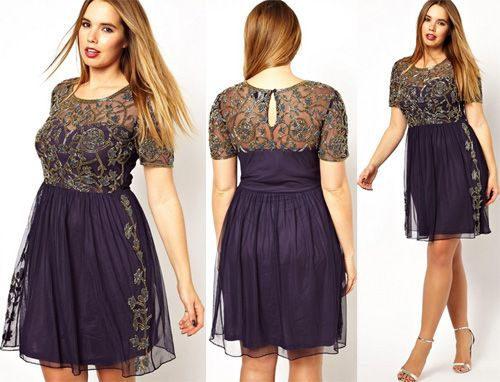 Asos Curve Us Plus Size Clothing Summer 2014 Baroque Style Dress