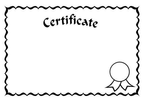 Certificate Blank Clip Art Learn English For Free Education