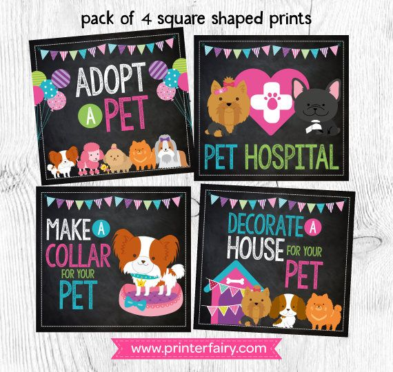 Pet Adoption Party, Puppy Birthday, Pet Adoption Prints, Pet Adoption Signs, DIGITAL, Instant download #petadoption