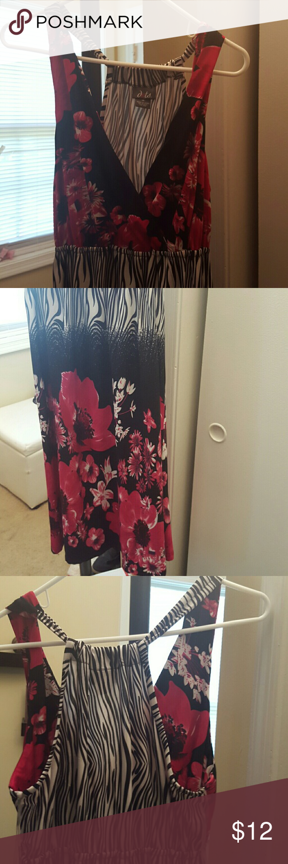 Racer Back Dress Beautiful racer back style dress in a flower and ...