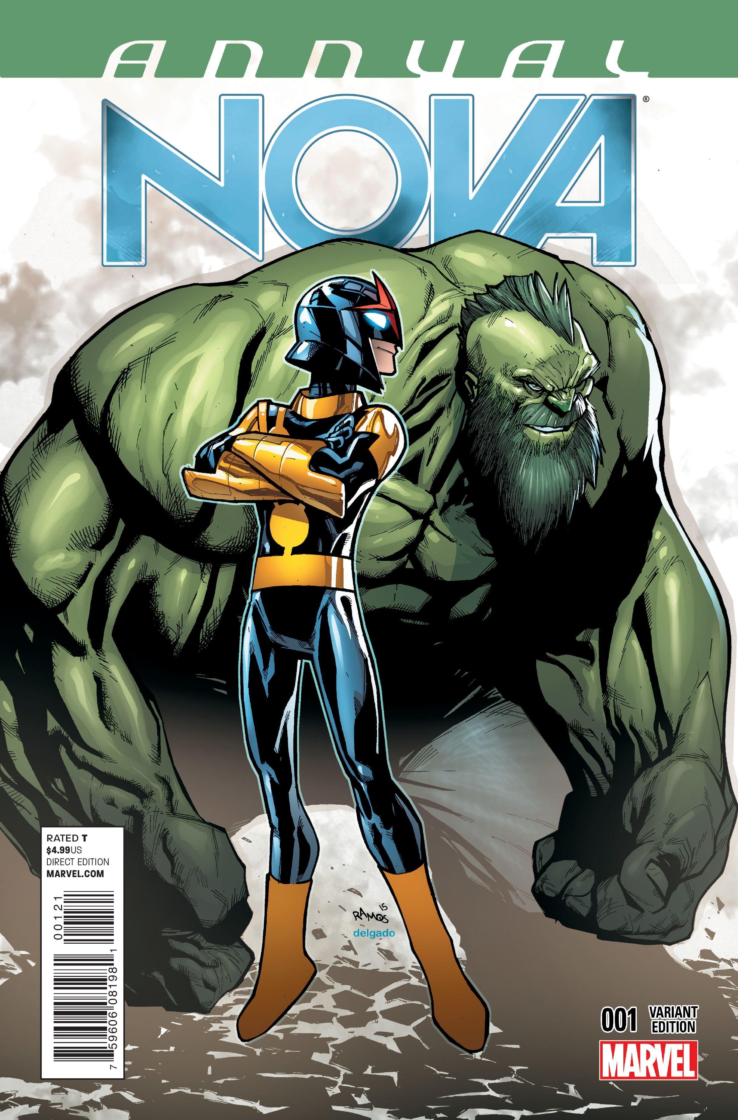 Nova Annual #1 Variant Cover by Humberto Ramos