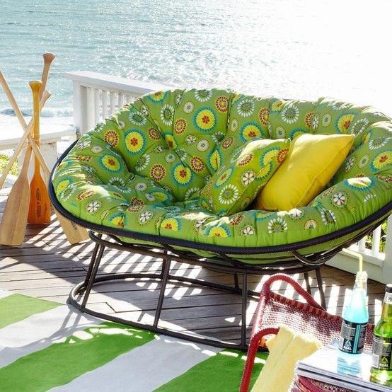 Winston Porter Outdoor Papasan Cushion Fabric Farrington Terrace