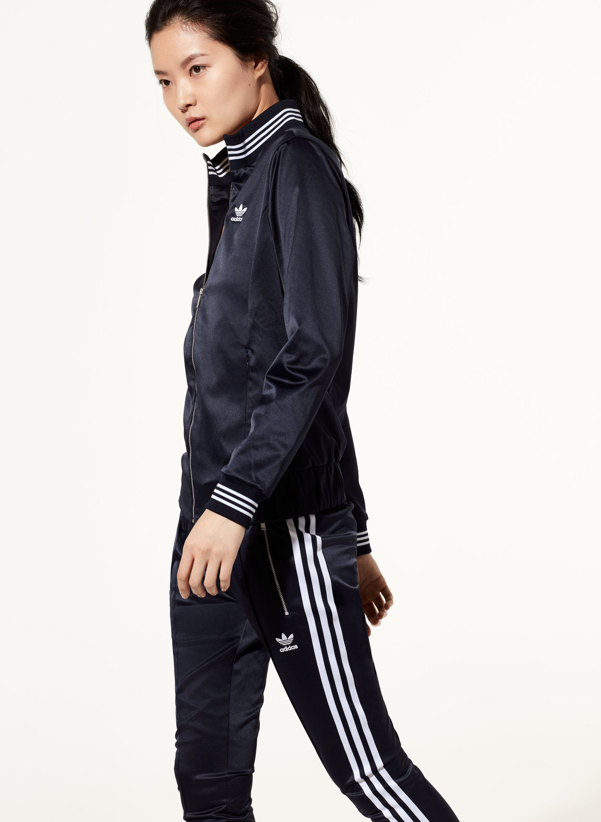 more photos 37049 375f3 Adidas SATIN TRACK TOP   Aritzia