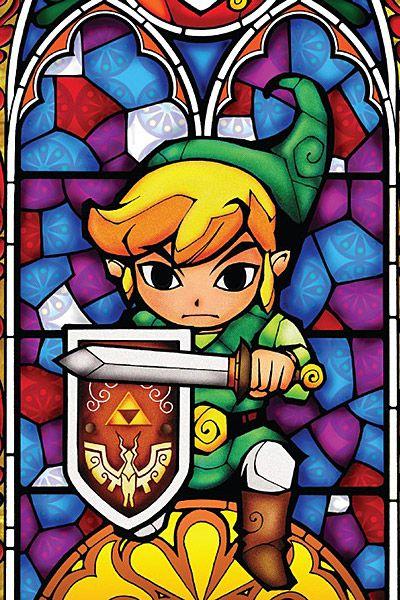 Legend Of Zelda Stained Glass Wall Decal Thinkgeek