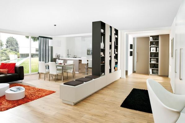 la cloison biblioth que a du talent blog schmidt entr e moderne les salon et la salle. Black Bedroom Furniture Sets. Home Design Ideas
