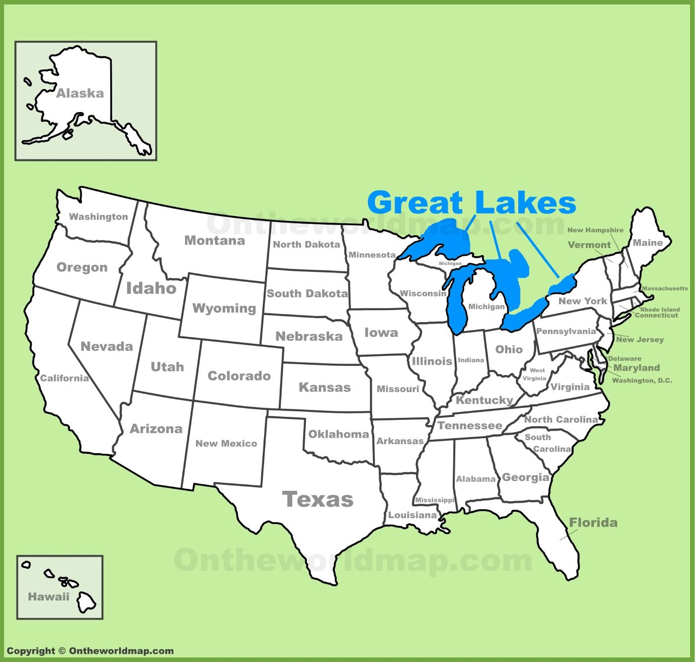 Great Lakes Location On The U S Map