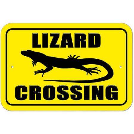 Lizard Crossing Sign
