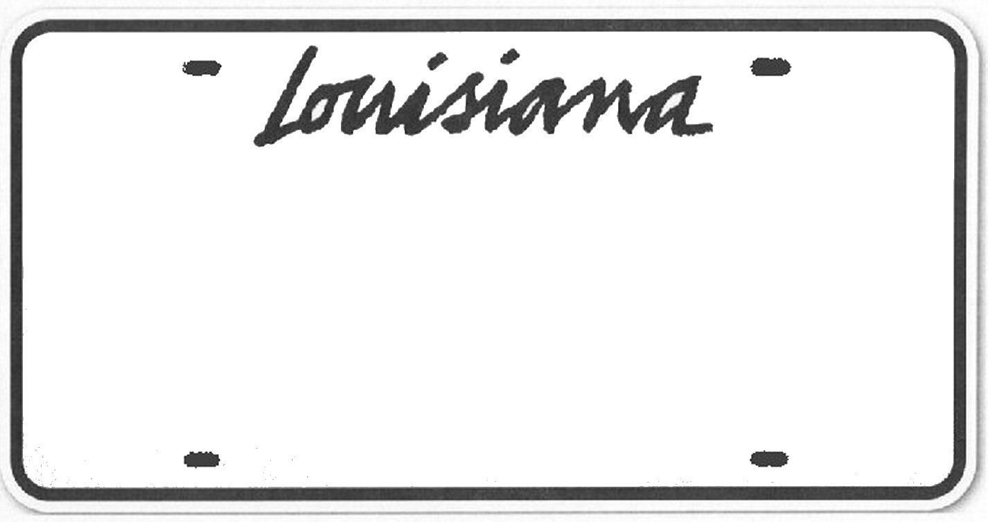 louisiana license plate template google search school