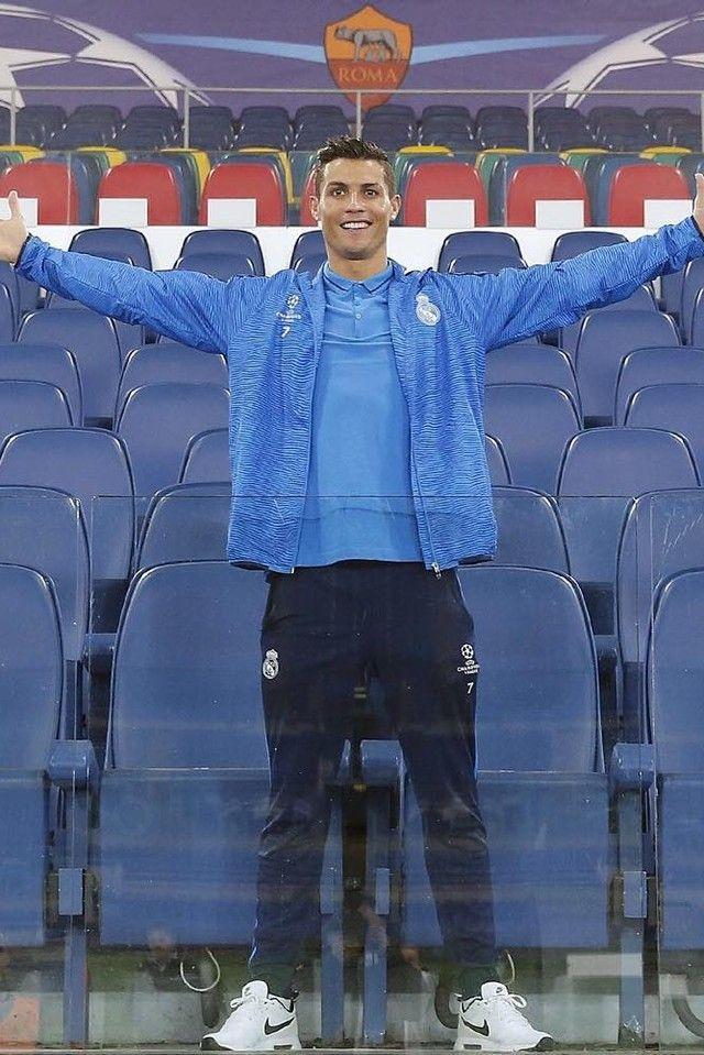 Cristiano Ronaldo wearing Adidas Real Madrid UCL Training Jacket bce4f36d9
