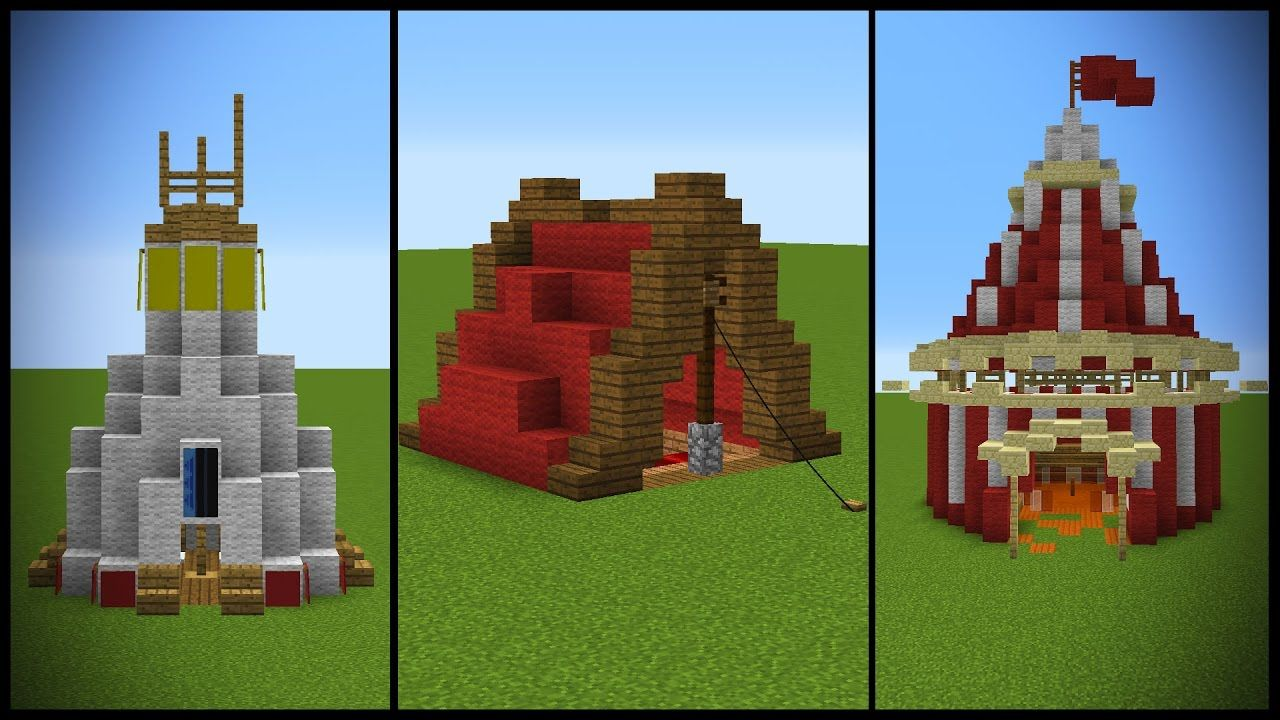 18 Minecraft Tent Or Similar Designs 1 Chunk Minecraft