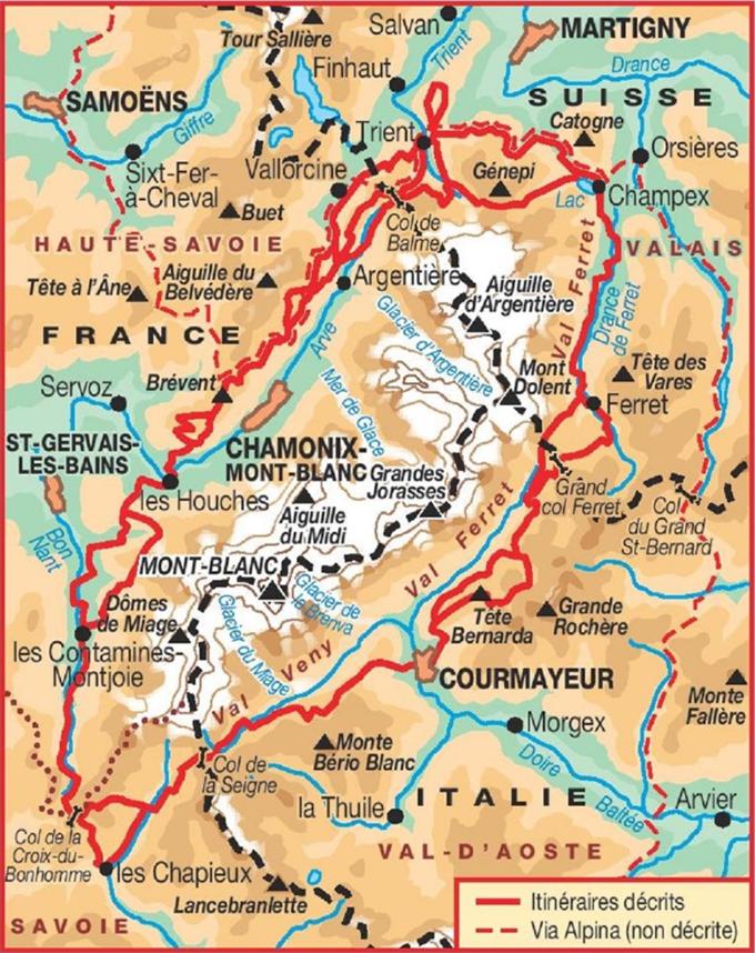 Ee Pedestre Presentes Dans Cet Article Sont Les Plus Recents Disponibles A L Heure Actuelle Mai 2017 Si Vous Li Randonnee France Carte Randonnee Mont Blanc