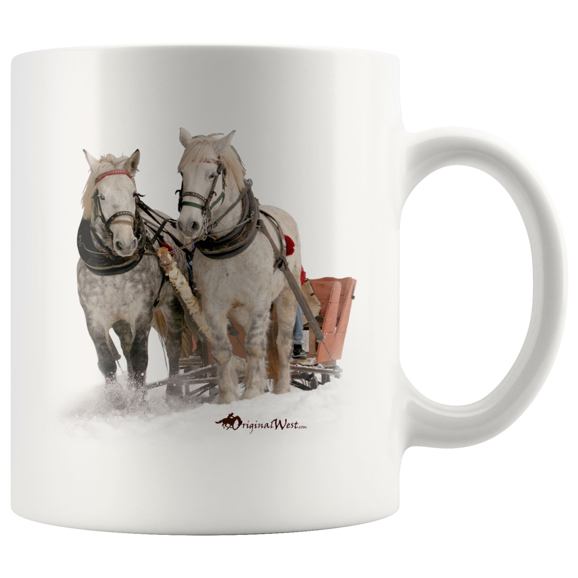 Winter Sleigh Ride Mug Mugs, White coffee mugs, Winter