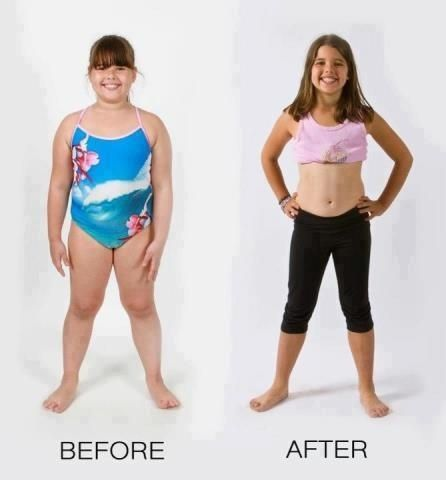 Can Weight loss pictures of young girls have passed