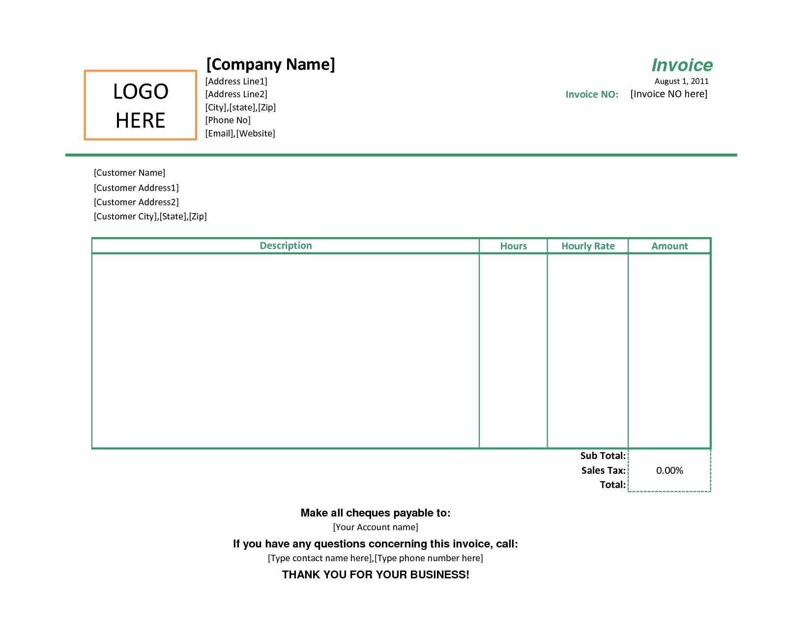 free printable sales invoice template sales invoice template simple sales invoice template
