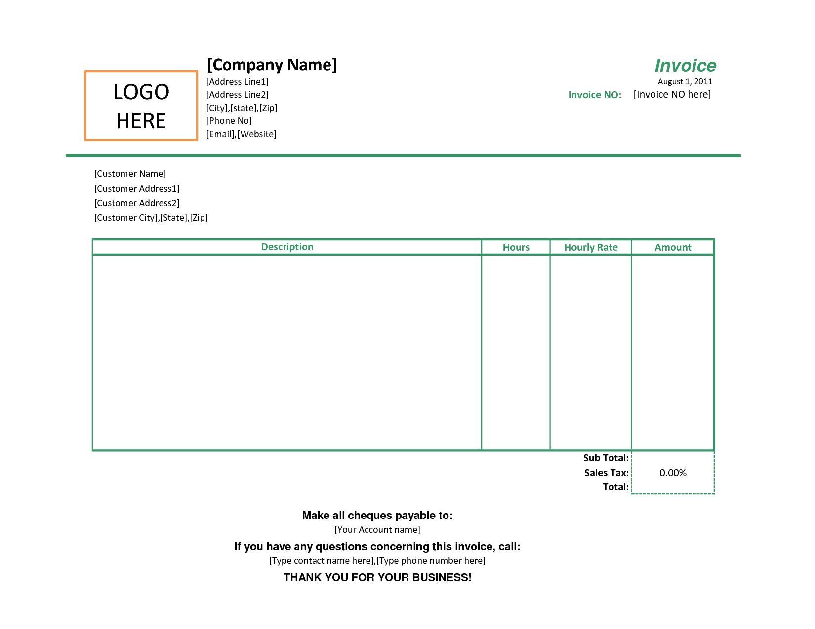 simple sales invoice