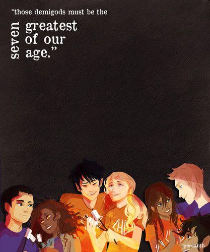 The Seven Demigods~ Frank Zhang, Hazel Levesque, Percy Jackson, Annabeth Chase, Piper McClean, Jason Grace, Leo Valdez. Heroes of Olympus