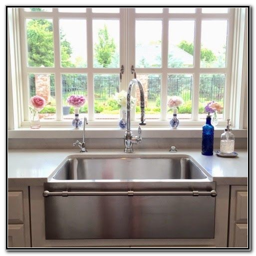 Stainless Steel Farmhouse Sink With Towel Bar Sink And Faucets