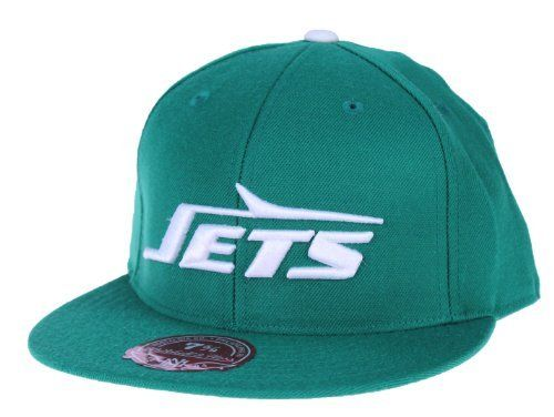 Mitchell   Ness NFL New York Jets Throwback Logo Fitted Hat 224fcdb52