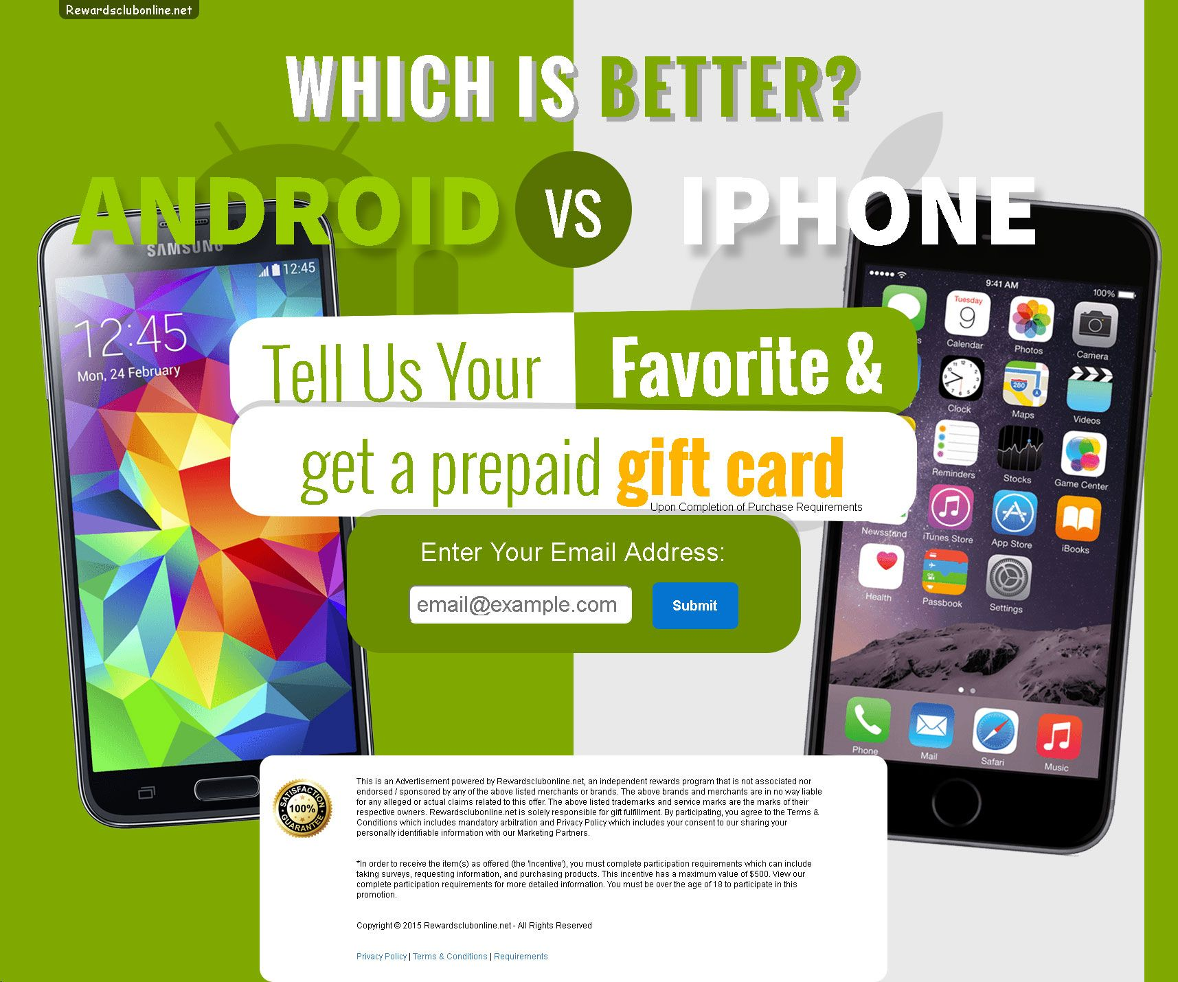 Are you an iphone or android person tell us and get a gift